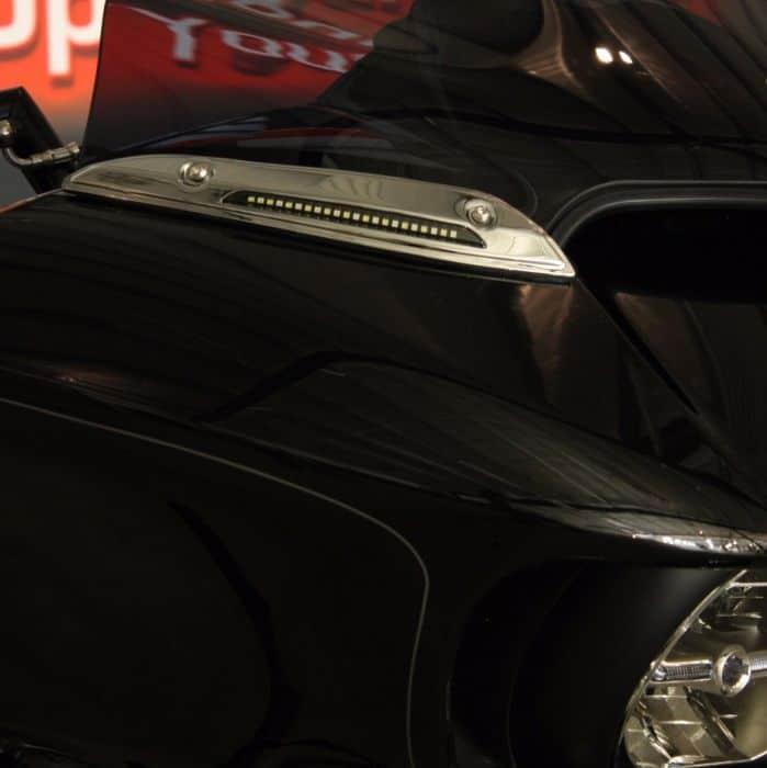 Custom Dynamics Gloss Black LED Windshield Trim CD-WT-14-B